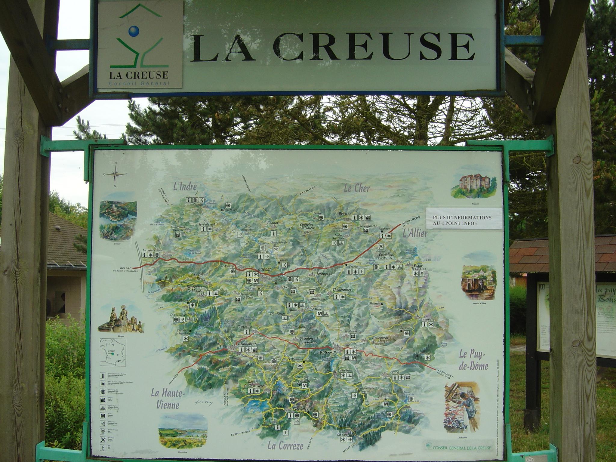 carte touristique de la creuse Creuse